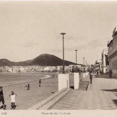 Postales: LAS PALMAS DE GRAN CANARIA PUERTO DE LA LUZ, PLAYA LAS CANTERAS. ED. ARRIBAS Nº 23.. Lote 221699428
