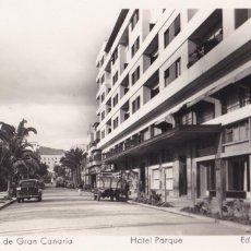 Postales: LAS PALMAS DE GRAN CANARIA HOTEL PARQUE. ED. ARRIBAS Nº 9. Lote 221699641