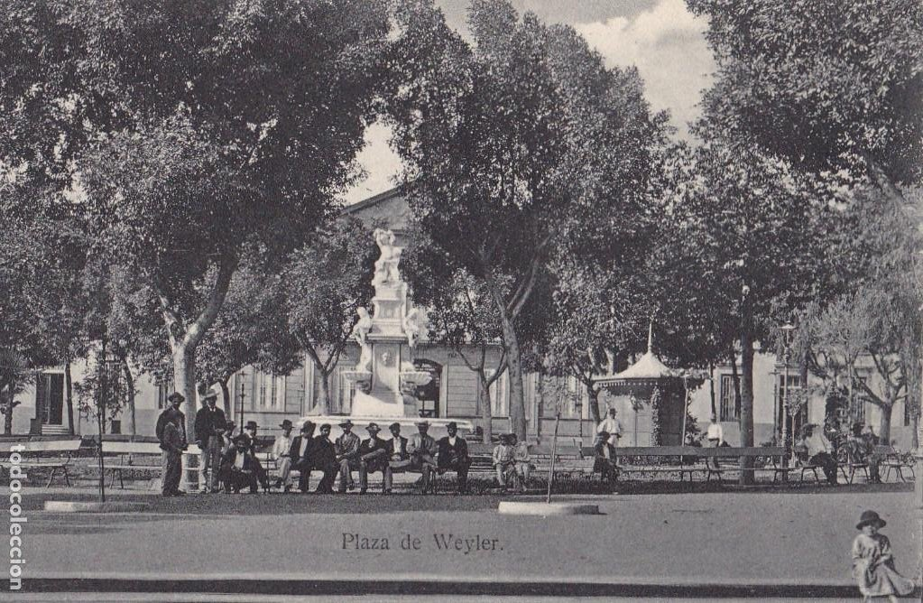 TENERIFE PLAZA DE WEYLER. ED. BAZAR FRANCES TENERIFE. SIN CIRCULAR (Postales - España - Canarias Antigua (hasta 1939))