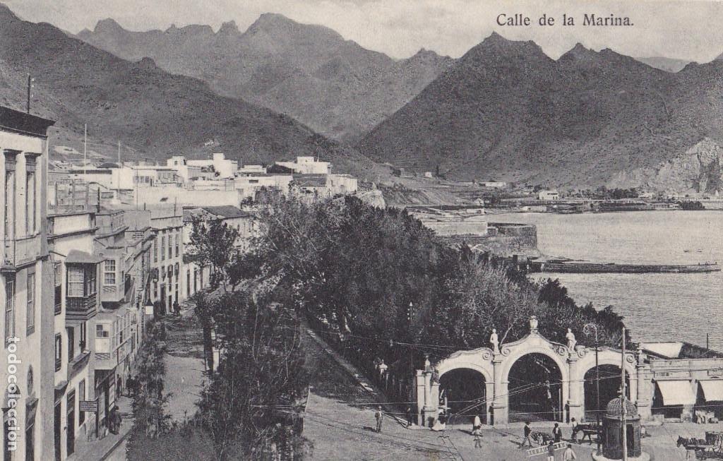 TENERIFE CALLE DE LA MARINA. ED. BAZAR FRANCES. SIN CIRCULAR (Postales - España - Canarias Antigua (hasta 1939))