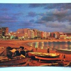 Postales: POSTAL. LAS PALMAS DE GRAN CANARIA. VISTA NOCTURNA PLAYA DE LAS CANTERAS. ED. CASA HAMBURGO. NO ESCR. Lote 221837451