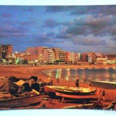 Postales: POSTAL. LAS PALMAS DE GRAN CANARIA. VISTA NOCTURNA PLAYA DE LAS CANTERAS. ED. CASA HAMBURGO. NO ESCR. Lote 221837458