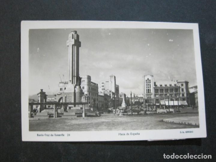 SANTA CRUZ DE TENERIFE-PLAZA DE ESPAÑA-ARRIBAS FOTOGRAFICA-POSTAL ANTIGUA-(75.076) (Postales - España - Canarias Antigua (hasta 1939))
