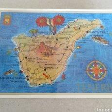 Postales: POSTAL DE TENERIFE. MAPA DE LA ISLA SIN CIRCULAR. Lote 222114607