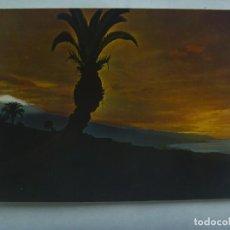 Postales: POSTAL DE TENERIFE ( ISLAS CANARIAS ): PANORAMA CON EL TEIDE Y MAR, ATARDECER. Lote 222217440