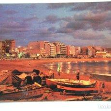 Cartes Postales: POSTAL. LAS PALMAS DE GRAN CANARIA. VISTA NOCTURNA PLAYA DE LAS CANTERAS. ED. CASA HAMBURGO. NO ESCR. Lote 222542873