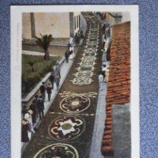 Postales: OROTAVA LA CALLE DE LA CARRERA ALFOMBRA CON FLORES NATURALES POSTAL AÑO 1905. Lote 224241163