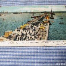 Postales: POSTAL ANTIGUA CANARIAS. GRAN CANARIA. DESEMBARQUE TROPAS PUERTO LUZ. CIRCULADA. Lote 226641350