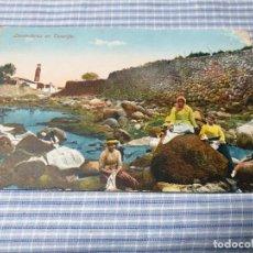 Postales: POSTAL ANTIGUA CANARIAS. LAVANDERAS TENERIFE. PUNTA DOBLADA. Lote 226641444