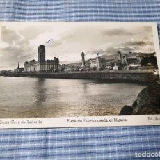 Postales: POSTAL FOTOGRÁFICA ANTIGUA CANARIAS. TENERIFE. PLAZA DE ESPAÑA DESDE EL MUELLE. ED. ARRIBAS. ESCRITA. Lote 226903515