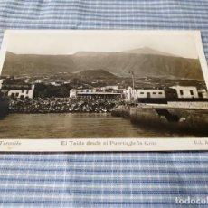 Postales: POSTAL FOTOGRÁFICA ANTIGUA CANARIAS. TENERIFE. PUERTO DE LA CRUZ. EL TEIDE. ED. ARRIBAS.. Lote 227059636