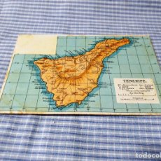 Postales: POSTAL ANTIGUA CANARIAS. MAPA TENERIFE. Lote 227071980