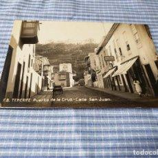 Postales: POSTAL ANTIGUA CANARIAS. TENERIFE. PUERTO DE LA CRUZ. CALLE SAN JUAN. Lote 227238530