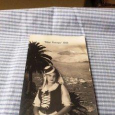 Postales: POSTAL ANTIGUA CANARIAS. TENERIFE. MISS EUROPA 1935. Lote 227238735