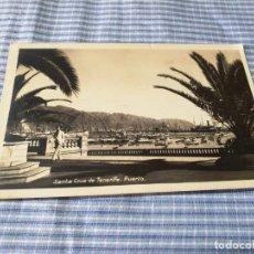 Postales: POSTAL ANTIGUA CANARIAS. TENERIFE. PUERTO. CIRCULADA. Lote 227238895