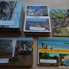 Postales: LOTE DE 250 POSTALES DE CANARIAS, FUERTEVENTURA, TENERIFE, GRAN CANARIA... VER FOTOS Y COMENTARIOS. Lote 231694515
