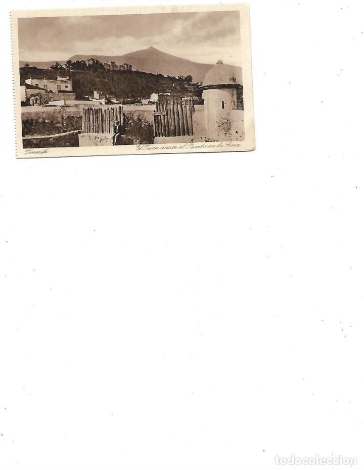 ANTIGUA POSTAL DE TENERIFE EL TEIDE DESDE EL PUERTO DE LA CRUZ (Postales - España - Canarias Antigua (hasta 1939))