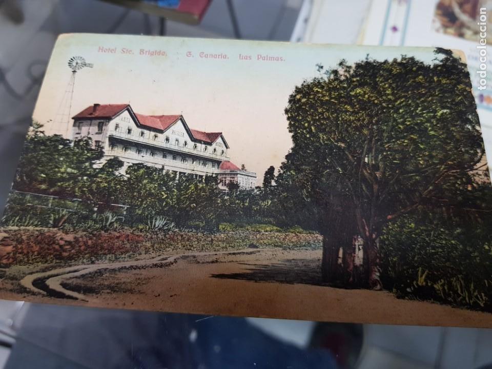 ANTIGUA POSTAL HOTEL SANTA BRIGIDA GRAN CANARIA LAS PALMAS A CARTAGENA MURCIA 1918 (Postales - España - Canarias Antigua (hasta 1939))