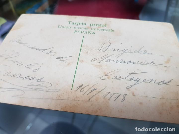 Postales: ANTIGUA POSTAL HOTEL SANTA BRIGIDA GRAN CANARIA LAS PALMAS A CARTAGENA MURCIA 1918 - Foto 2 - 233806395