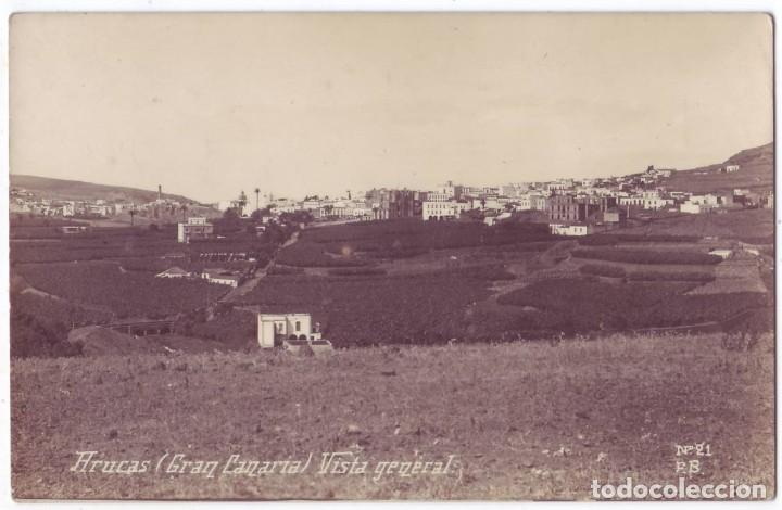 ARUCAS (LAS PALMAS DE GRAN CANARIA): VISTA GENERAL. F.B. NO CIRCULADA (AÑOS 20) (Postales - España - Canarias Antigua (hasta 1939))