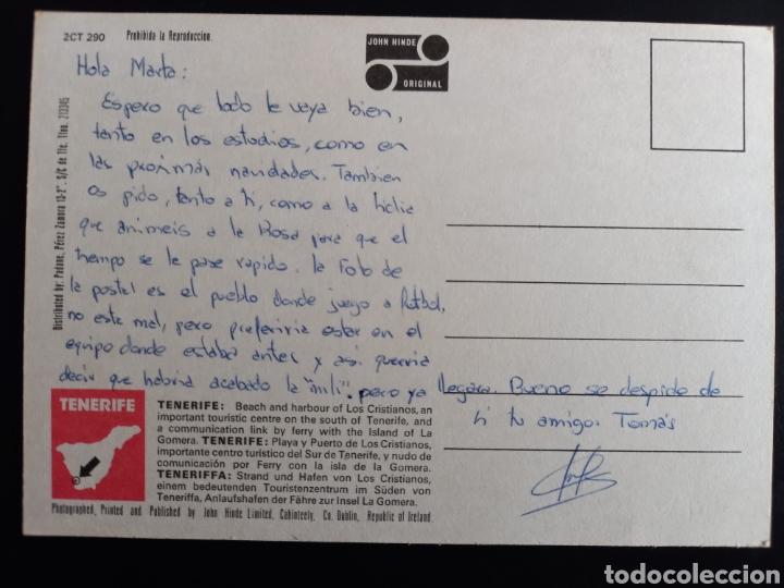 Postales: Postal de. Los cristianos. Playa y puerto. Tenerife. - Foto 2 - 235656380