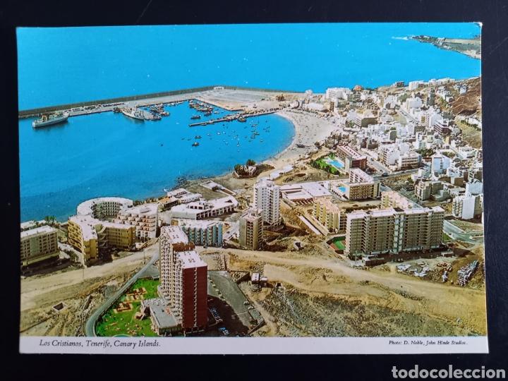 POSTAL DE. LOS CRISTIANOS. PLAYA Y PUERTO. TENERIFE. (Postales - España - Canarias Moderna (desde 1940))