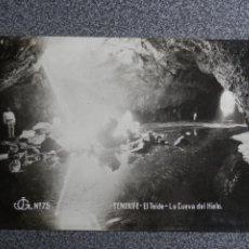 Postales: CANARIAS TENERIFE EL TEIDE CUEVA DEL HIELO POSTAL FOTOGRÁFICA MUY RARA AÑO 1922. Lote 239353465