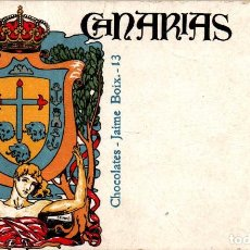 Postales: CANARIAS CHOCOLATES JAIME BOIX RARA TARJETA PUBLICITARIA. Lote 239353495