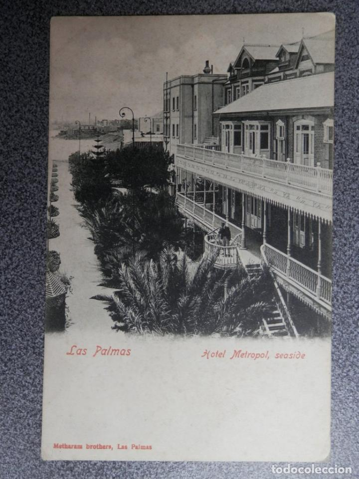 LAS PALMAS CANARIAS HOTEL METROPOL POSTAL ANTERIOR A 1905 (Postales - España - Canarias Antigua (hasta 1939))