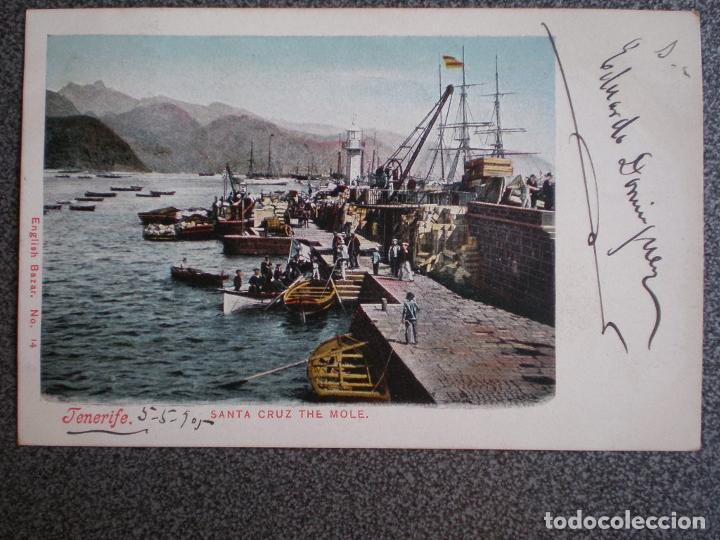 CANARIAS SANTA CRUZ DE TENERIFE EL MUELLE POSTAL AÑO 1905 (Postales - España - Canarias Antigua (hasta 1939))