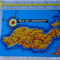 Postales: POSTAL DE LANZAROTE. AÑO 1975. MAPA DE LA ISLA. 5148 BEASCOA. 3371. Lote 243682285