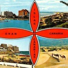 Postales: Nº 1.170-GRAN CANARIA. VISTAS PANORÁMICAS DEL SUR DE LA ISLA. CIRCULADA EN 1974. ED. GLOBAL TRADERS. Lote 244201740