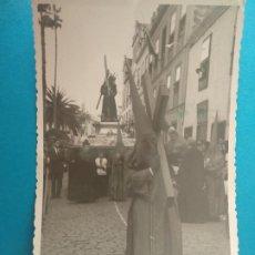 Postales: LA LAGUNA. TENERIFE. COFRADIA NAZARENO SEMANA SANTA. (13,5 X 8,5 CM) FOTO. Lote 244339170