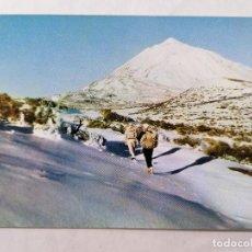 Postales: POSTAL TENERIFE, LA MONTAÑA BLANCA Y EL TEIDE, AÑOS 80. Lote 244465730