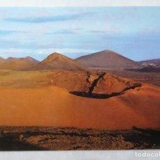 Postales: POSTAL LANZAROTE, MONTAÑA DE FUEGO, AÑOS 70. Lote 244466100