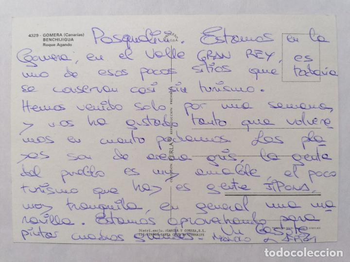 Postales: POSTAL GOMERA, BENCHIJIGUA, ROQUE AGANDO, AÑOS 70 - Foto 2 - 244466290