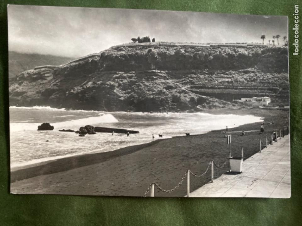 ANTIGUA POSTAL TENERIFE PUERTO LA CRUZ PLAYA (Postales - España - Canarias Moderna (desde 1940))