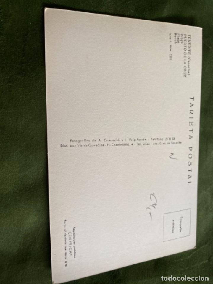 Postales: ANTIGUA POSTAL TENERIFE PUERTO LA CRUZ PLAYA - Foto 2 - 244845700