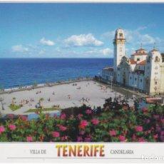 Postales: TENERIFE, CANDELARIA BASILICA Y PLAZA - SOFOTO GT4119 - S/C - (17X12). Lote 245167075