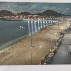Postales: POSTAL 5022 LAS PALMAS DE GRAN CANARIA. PLAYA DE LAS CANTERAS, DE NOCHE. Lote 246277430