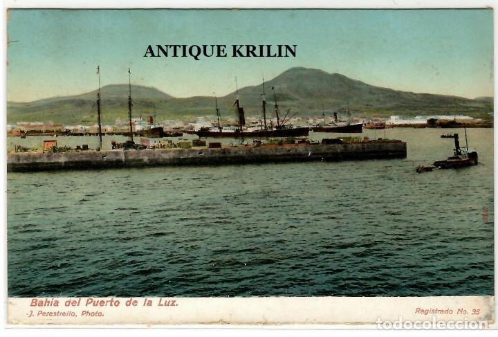 LAS PALMAS / BAHIA DEL PUERTO DE LA LUZ Nº 35 J. PERESTRELLO (Postales - España - Canarias Antigua (hasta 1939))