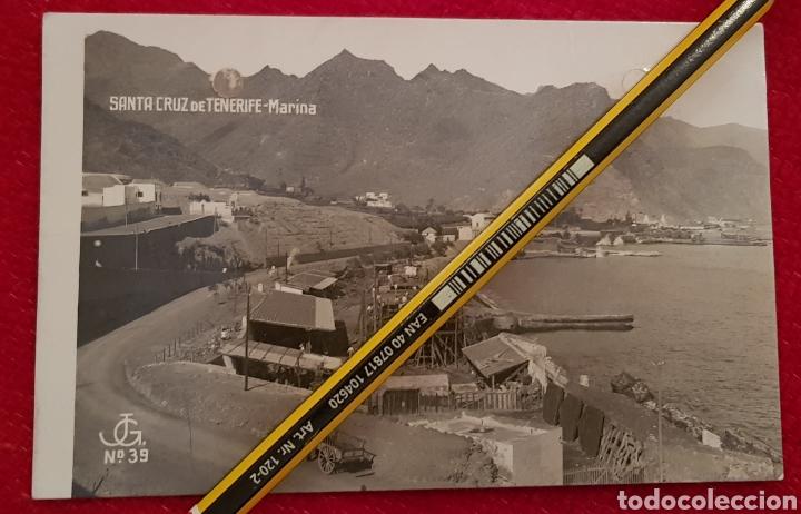POSTAL SANTA CRUZ TENERIFE. MARINA. CANARIAS. EDITOR J. G. NUM 39. JOAQUÍN GONZÁLEZ. CIRCULADA 1922 (Postales - España - Canarias Antigua (hasta 1939))
