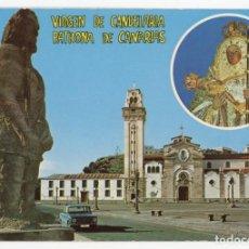 Postales: EM0623 TENERIFE BASILICA DE NRA SRA DE LA CANDELARIA EURIMPEX SEAT 124. Lote 256013210