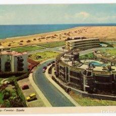 Postales: EM0624 GRAN CANARIA PLAYA DE LOS INGLESES 1972 IBER CROMO RENAULT 4 SEAT 600. Lote 256013645