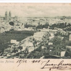 Cartes Postales: VISTA DE LAS PALMAS DE GRAN CANARIA. ED. DORESTE Y DIAZ Nº 9.REVERSO SIN DIVIDIR. CIRCULADA EN 1901. Lote 258038875
