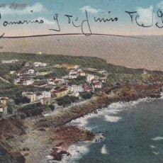 Cartes Postales: TENERIFE, LAS AGUAS. ED. NOBREGAS ENGLISH BAZAR. BYN COLOREADA. CIRCULADA EN 1914. Lote 258176950