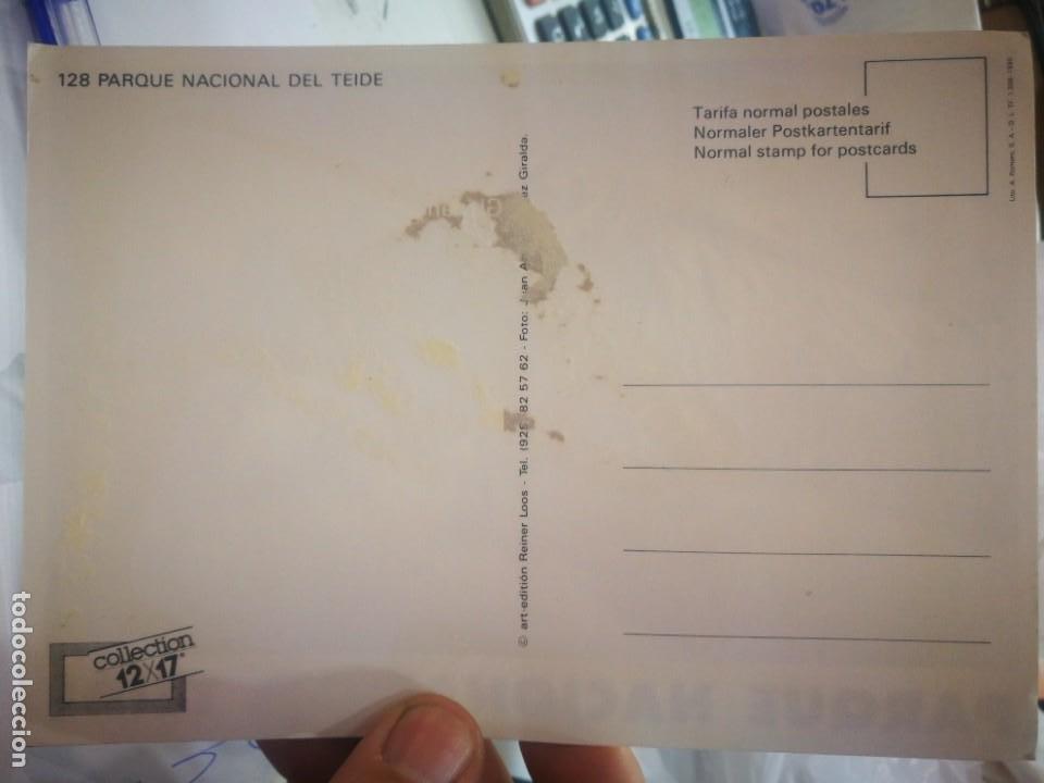Postales: Postal Parque Nacional del Teide N 128 ART EDITION REINER LOOS a estado pegada - Foto 2 - 260586345