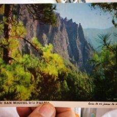 Postales: POSTAL ISLA DE SAN MIGUEL DE LA PALMA PAISA EN EL PARQUE NACIONAL DE LA CALDERA TABURIENTE N 122 DAV. Lote 260677820