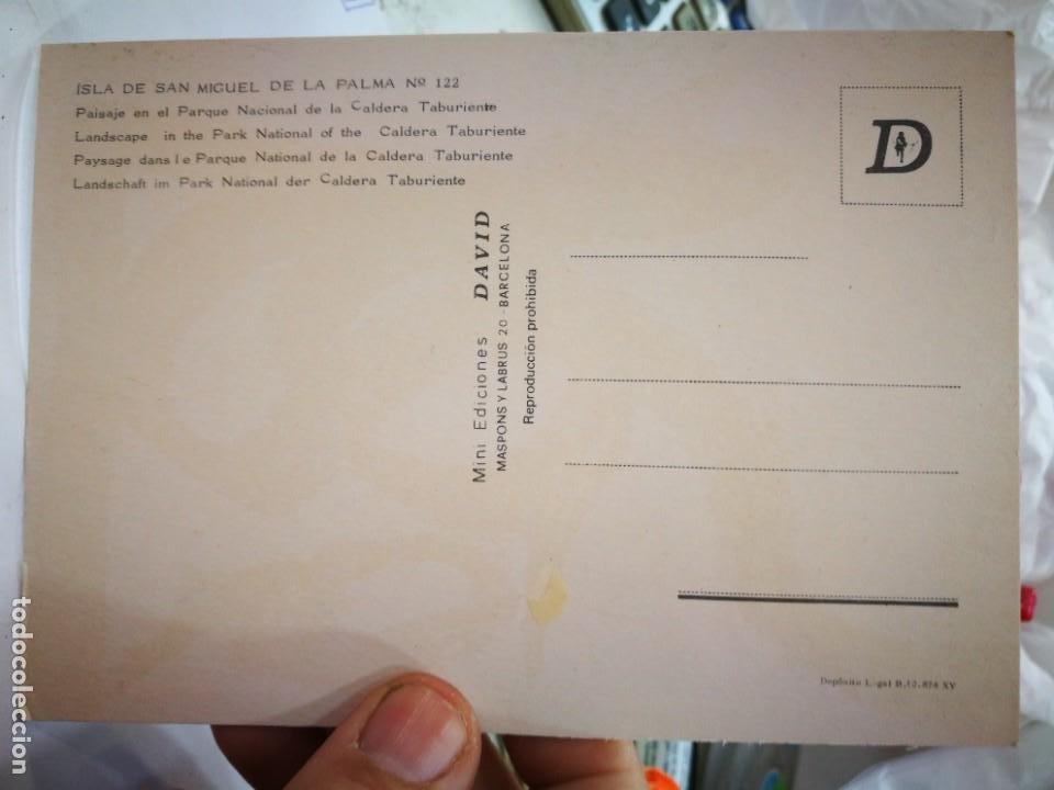 Postales: Postal Isla de San Miguel de la Palma Paisa en el Parque Nacional de la Caldera Taburiente N 122 DAV - Foto 2 - 260677820