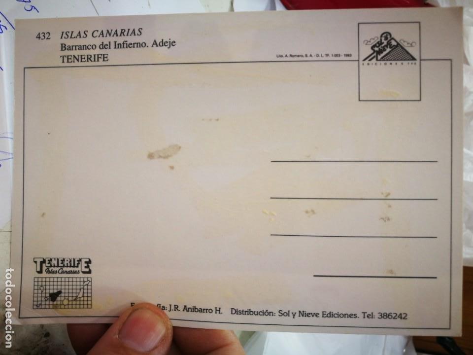 Postales: Postal ISLAS CANARIAS Barranco del Infierno Adeje Tenerife mal estado a estado pegada - Foto 2 - 260691290